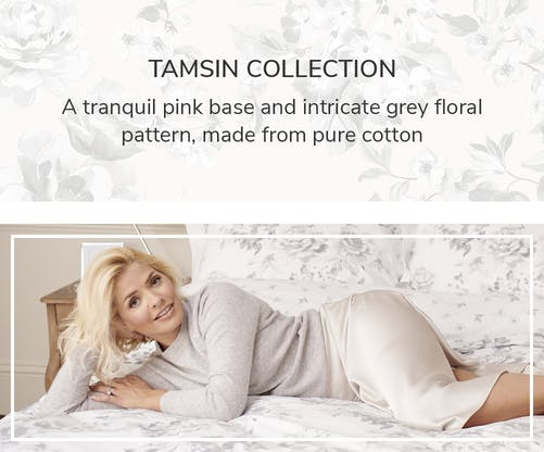 where to get Holly Willoughby grey jumper white satin skirt Dunelm