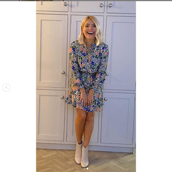 where to get Holly Willoughby white floral dress 22 January 2020 Photo Holly Willoughby