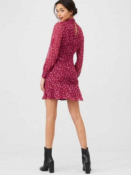 Whistles Falling Leaves Mini Dress back view