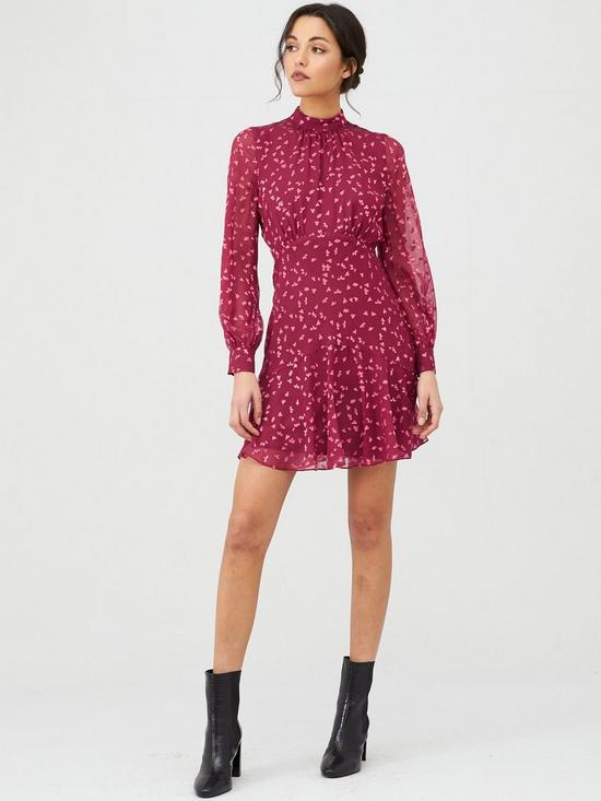 Whistles Falling Leaves Mini Dress