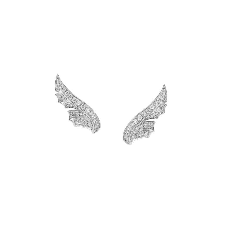 Stephen Webster Magnipheasant Pavé Feather Earstuds