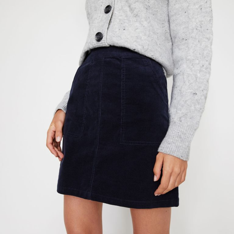 Warehouse Cord Patch Pocket Mini Skirt v2