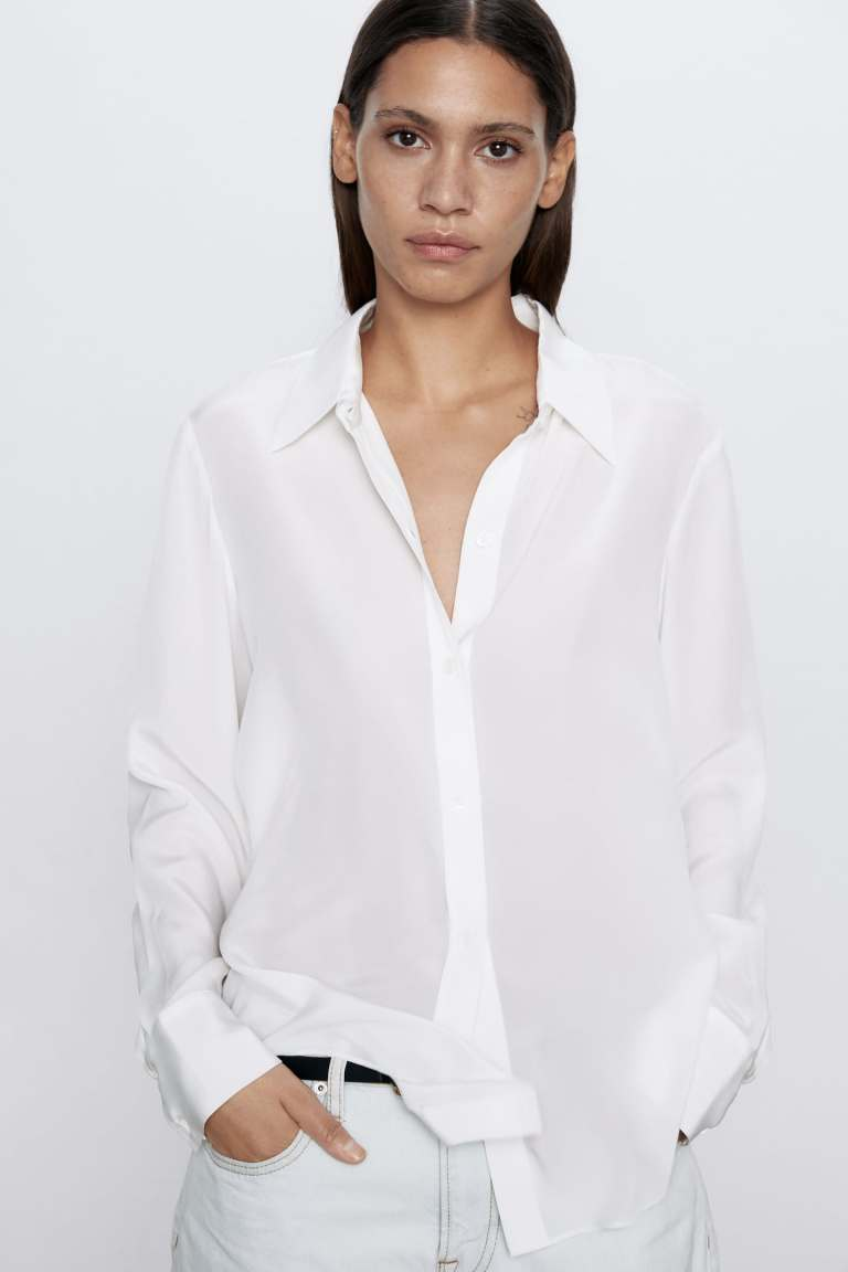 Zara Flowing Silk Blouse