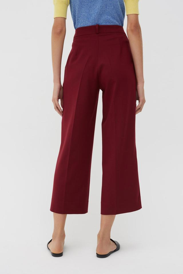 Chinti & PArker Berry Wool-Twill Cropped Trousers back view