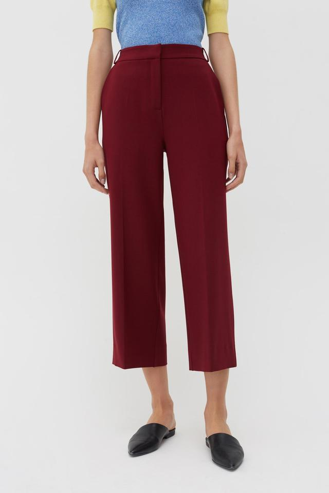 Chinti & PArker Berry Wool-Twill Cropped Trousers