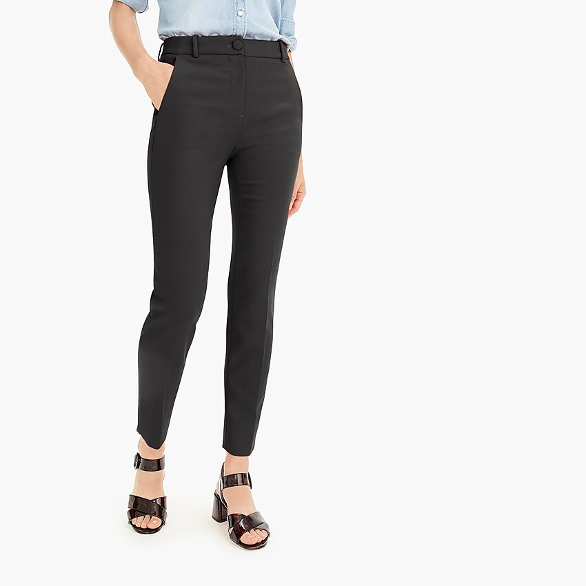 J Crew high-rise Cameron pant in four-season stretch black