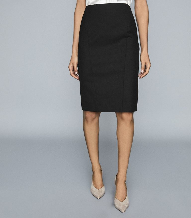 Reiss Hartley Textured Pencil Skirt