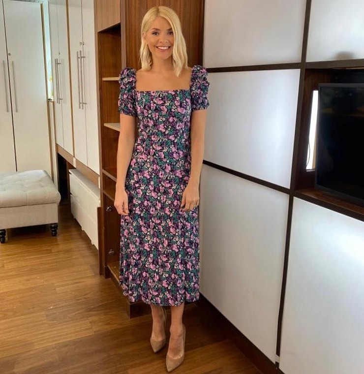 where to get all Holly Willoughby This Morning dresses lilac floral square neck dress 3 March 2020 Photo Holly Willoughby
