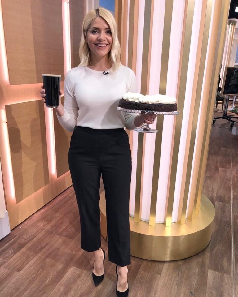 Where to get all holly willoughby This morning outfits white knitwear black cropped trousers 17 March 2020 Photo Holly Willoughby