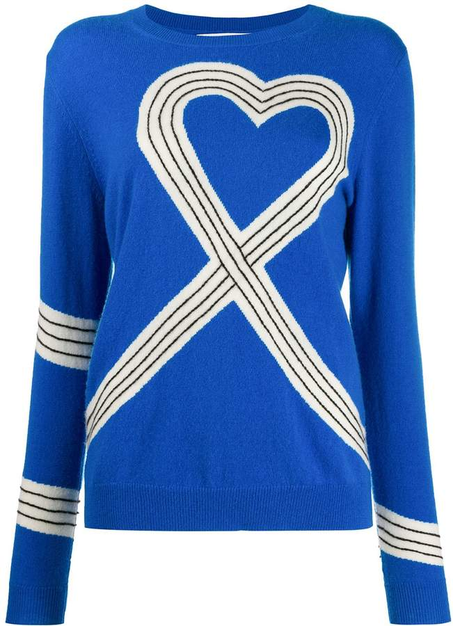 Chinti & Parker Heart-Motif Knitted Jumper