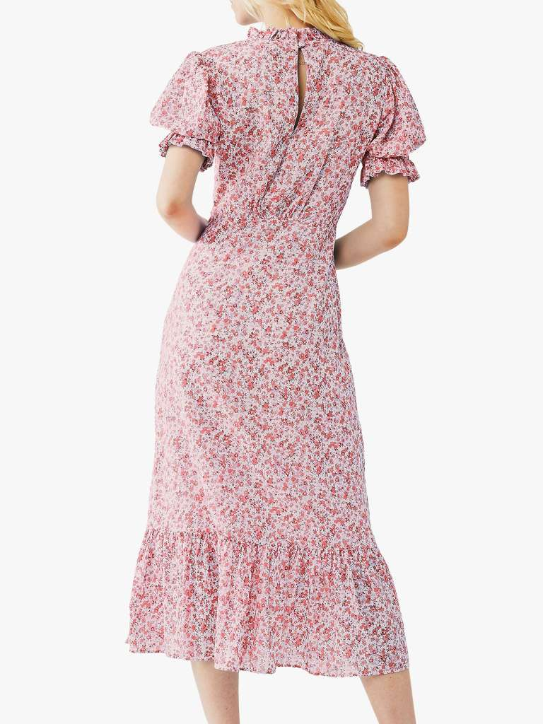 Ghost Solene Floral Midi Dress back view