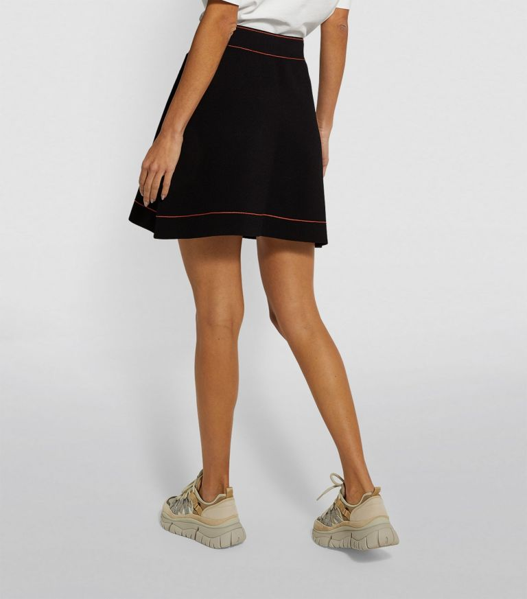 Sandro Paris Knitted A-Line Skirt back view