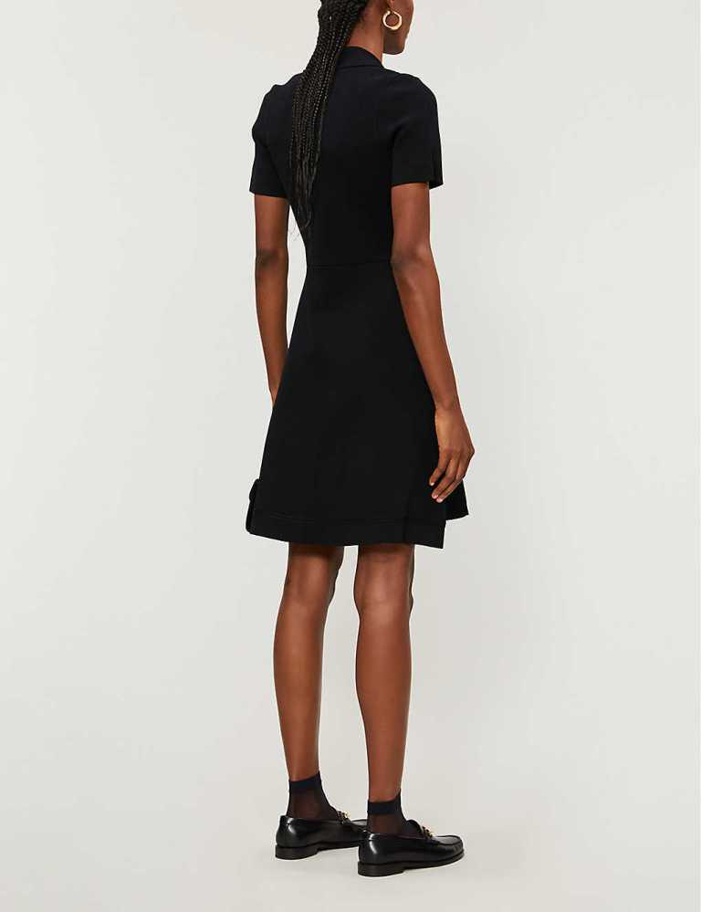 Sandro Paris Knitted Tailored Dress back view