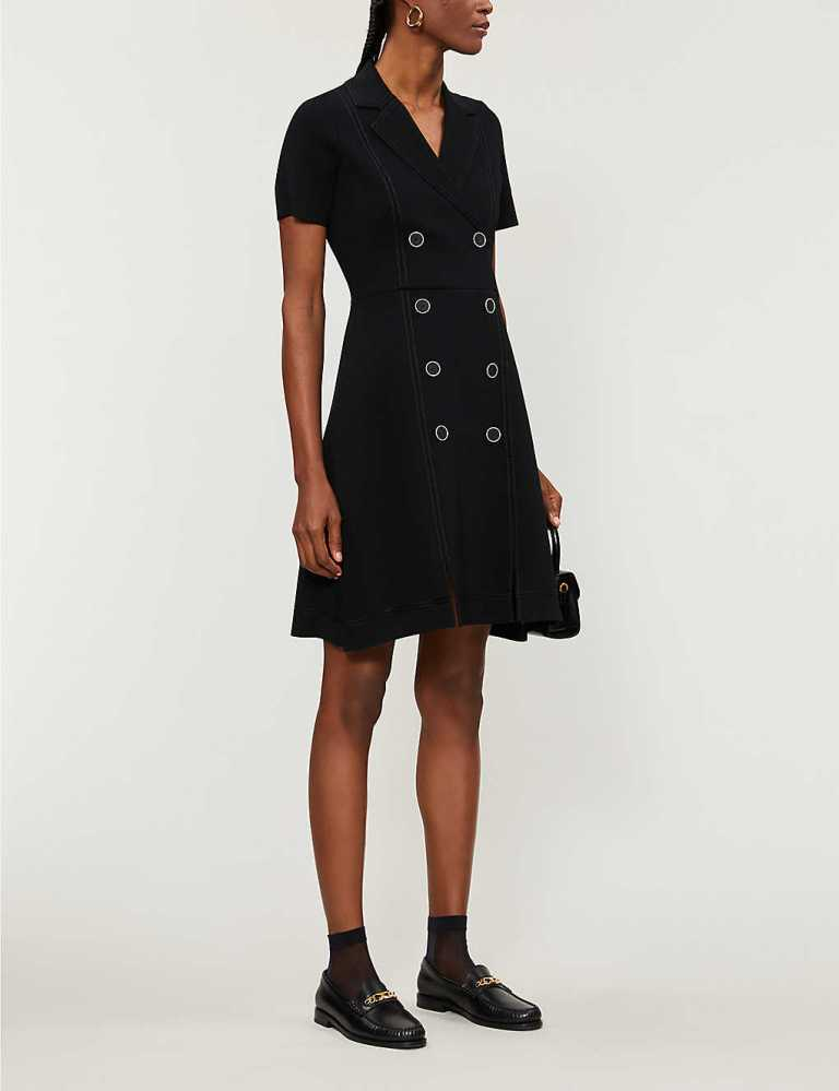 Sandro Paris Knitted Tailored Dress