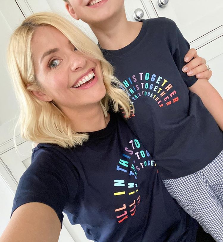 Where to get Holly Willoughby All In this Together t-shirt 23 April 2020 Photo Holly Willoughby