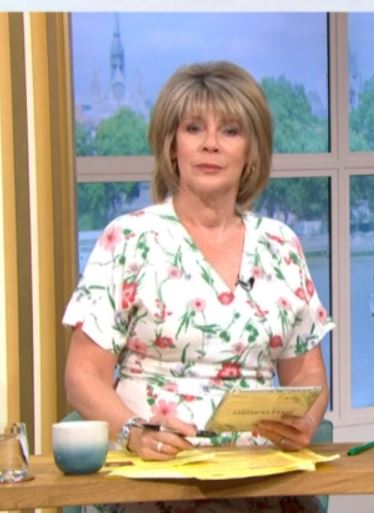 where to get Ruth Langsford This Morning dress white floral v neck dress 24 April 2020 Photo ITV
