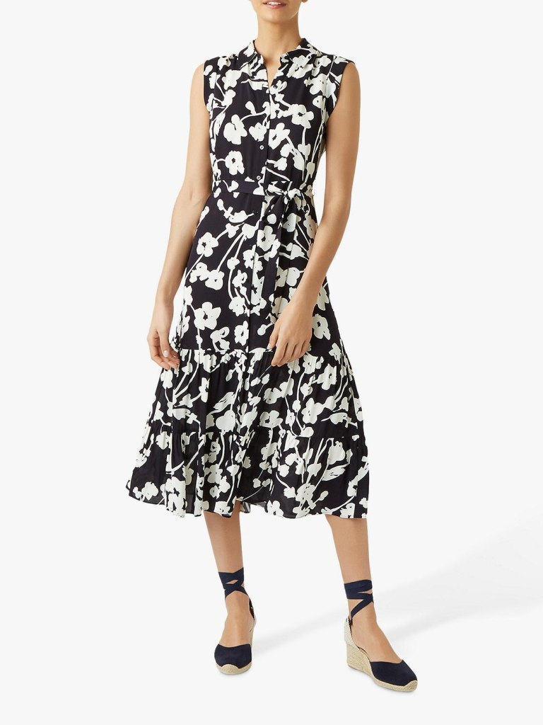 Hobbs Esme Floral Midi dress
