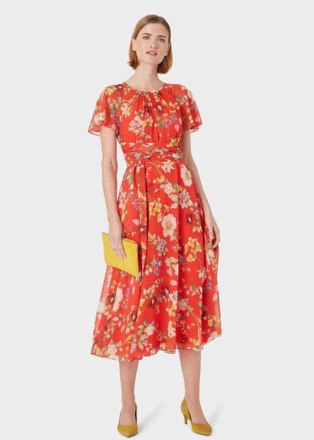 Hobbs Sarah Floral Midi Dress