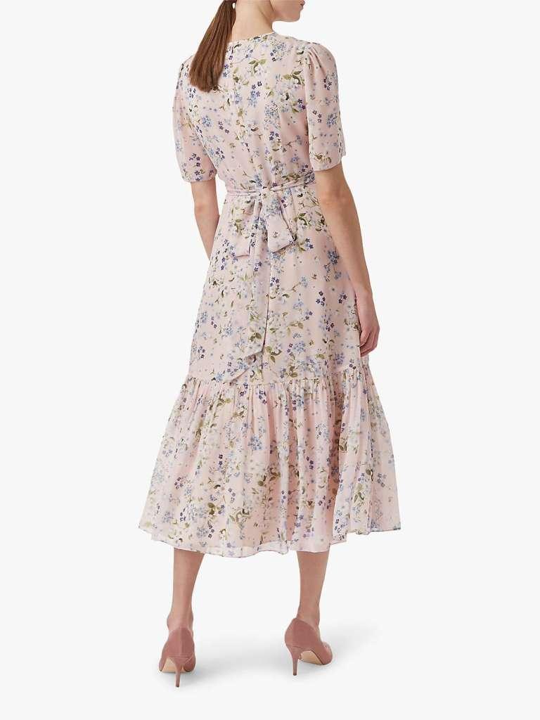 Hobbs Silk Floral Dress back view