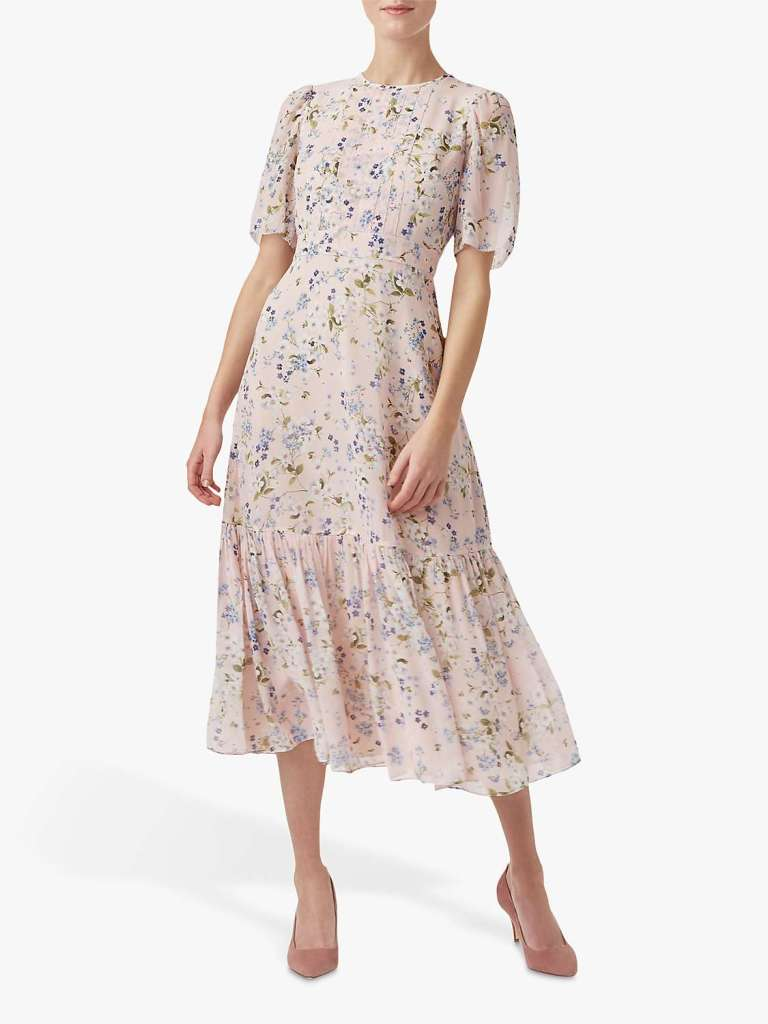 Hobbs Silk Floral Dress