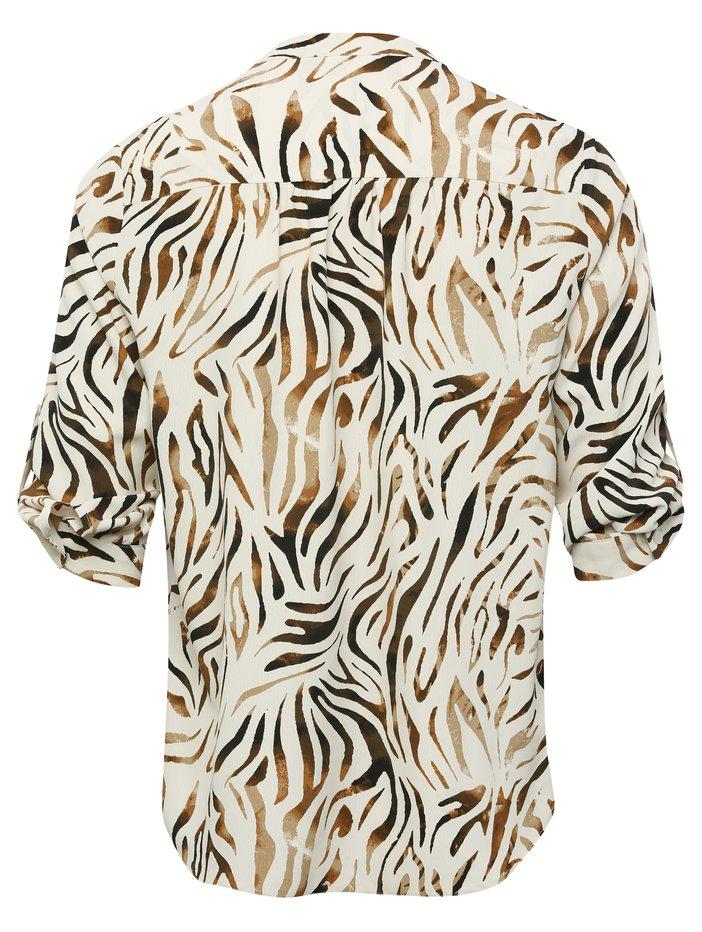 M&Co Animal Print Blouse back view
