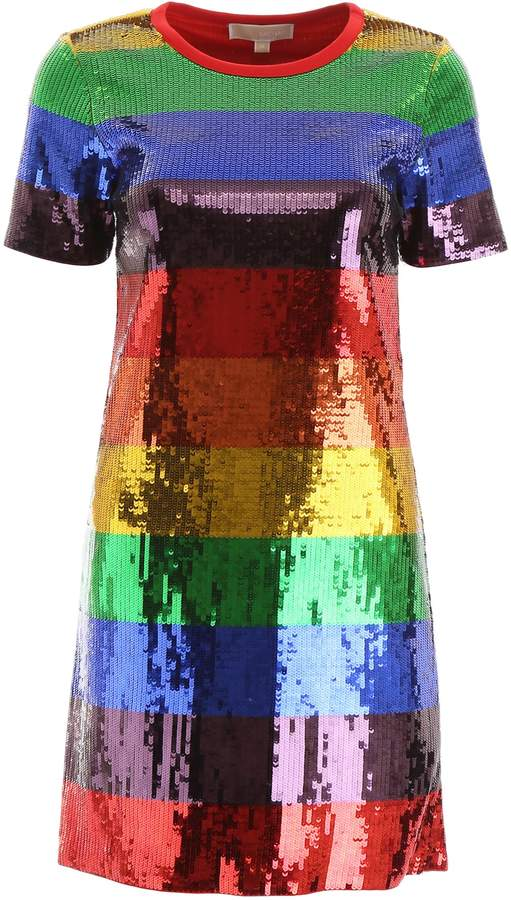 Michael Kors Multicolor Sequin Mini Dress