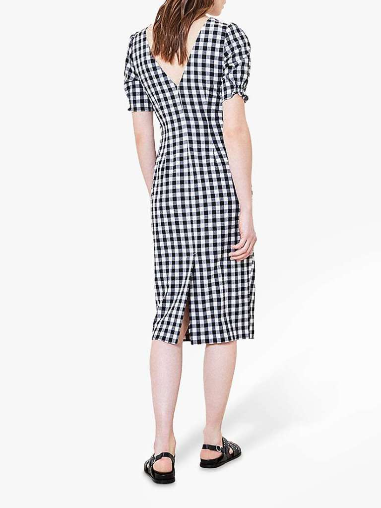 Oasis Gingham Midi Dress back view