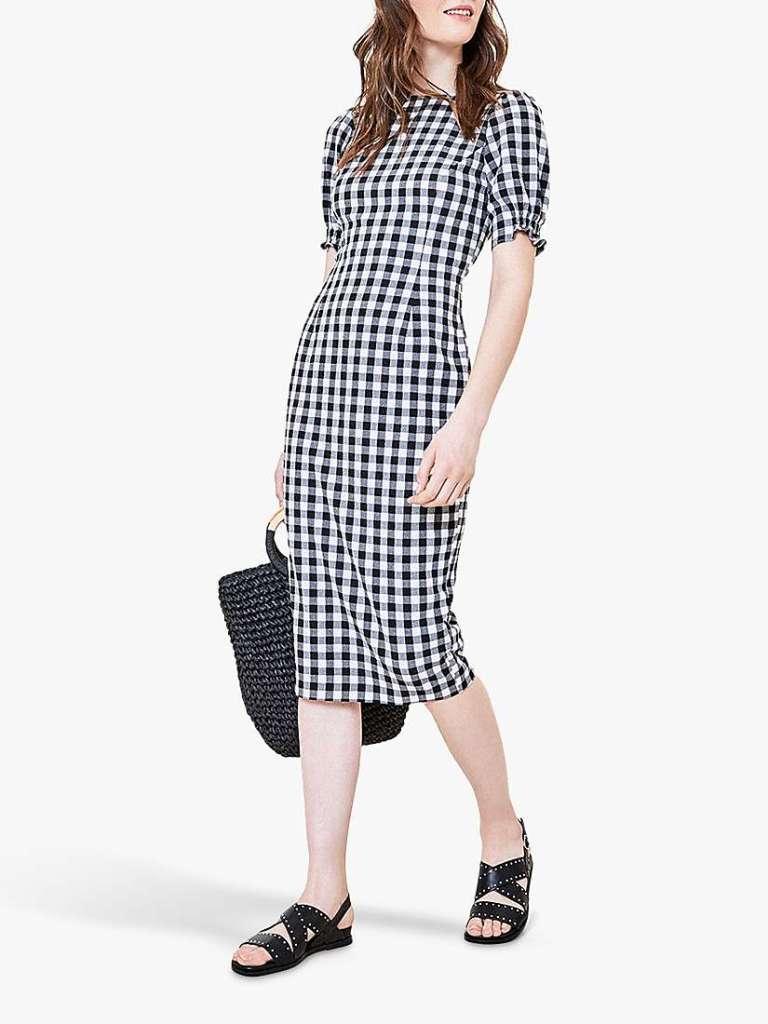 Oasis Gingham Midi Dress