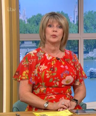 where to get Ruth Langsford This Morning dresses red floral dress 27 May 2020 Photo ITV