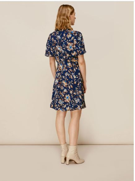 Whistles Prairie Blossom Print Dress back view
