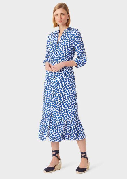 Hobbs Magda Spot Shirt Dress