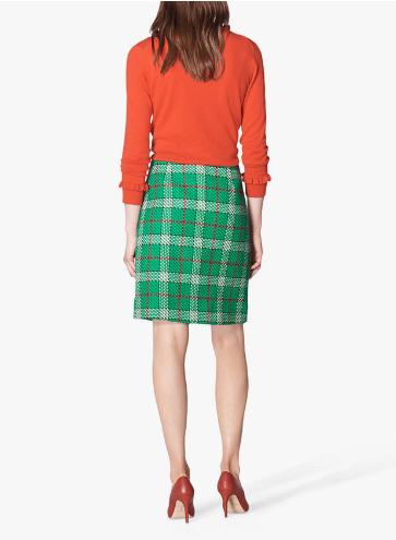 L.K.Bennett Lowri Check Tweed Mini Skirt back view