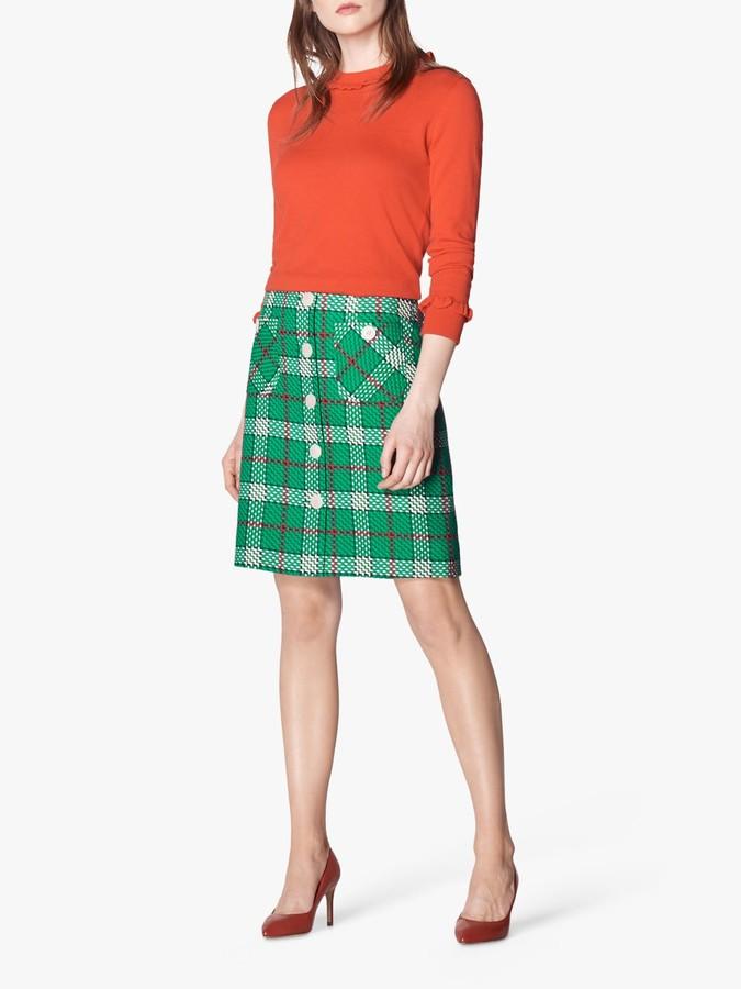 L.K.Bennett Lowri Check Tweed Mini Skirt