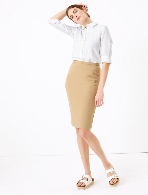 M&S collection Tailored Pencil Skirt