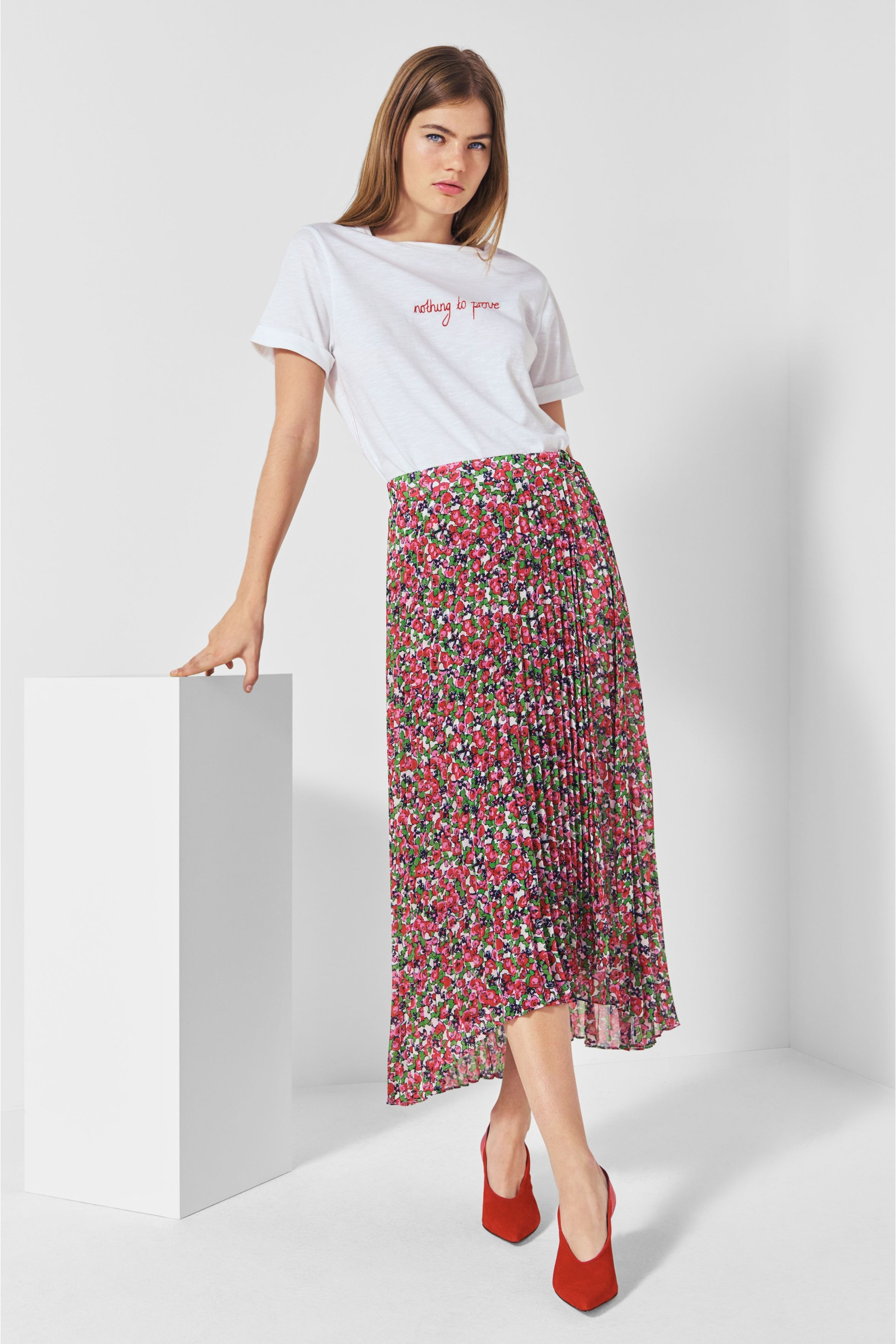 Next Mix Printed Pleat Skirt
