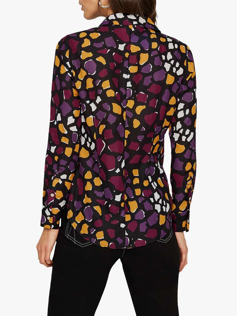 Damsel in a Dress Sheri Abstract Print Shirt back view