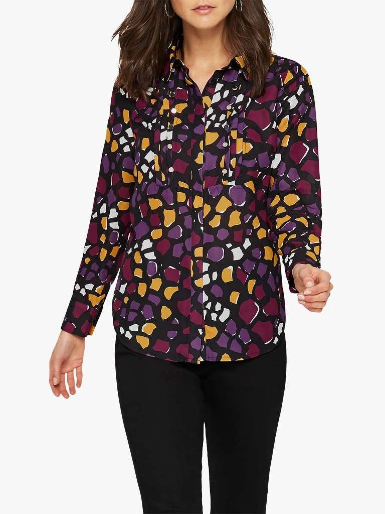 Damsel in a Dress Sheri Abstract Print Shirt