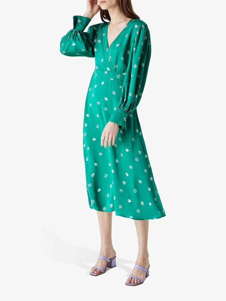 Finery Shiloh Spotted Midi Dress