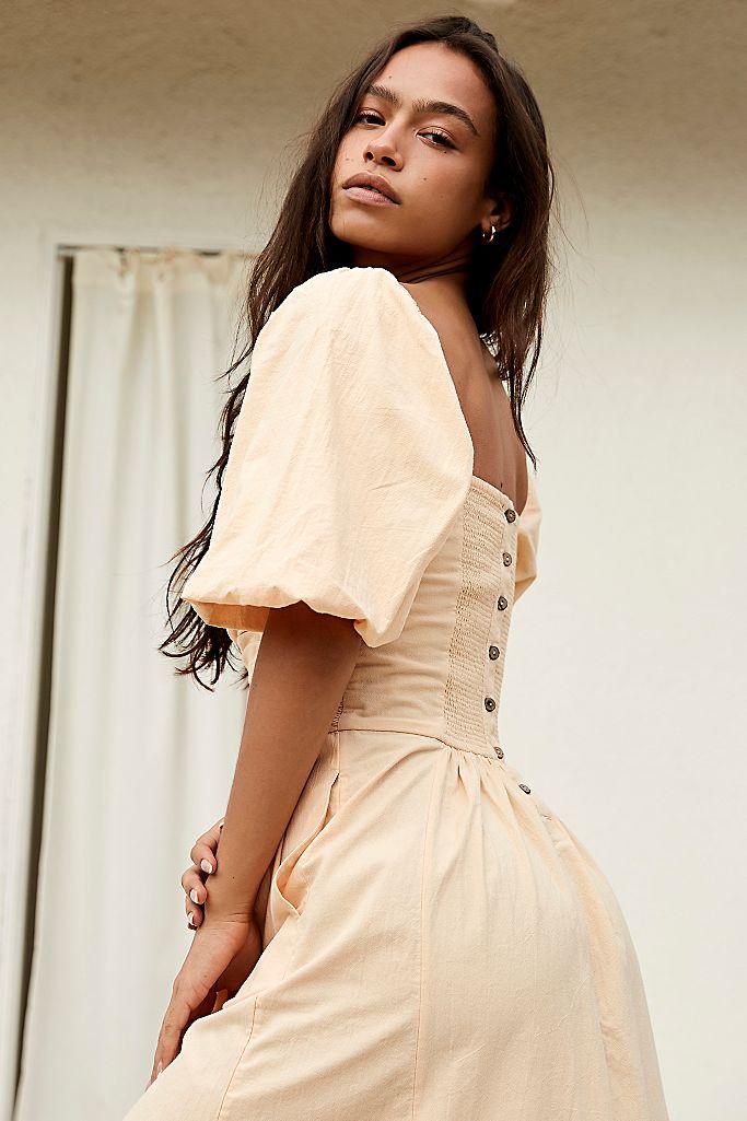 Free People Aint She a Beaut Midi Dress back view