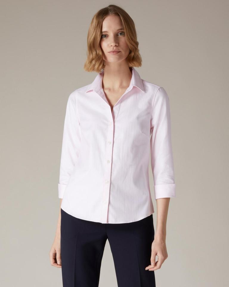 Jaeger Herringbone Cotton Shirt