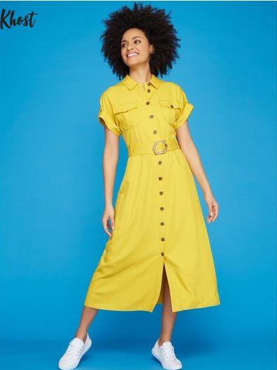 Khost Clothing Midi Shirt Dress