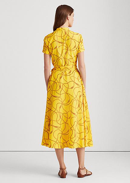 Ralph Lauren Print Crepe Dress back view