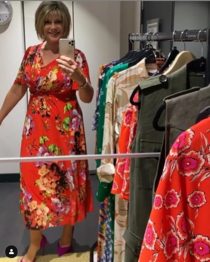 where to get all Ruth Langsford This Morning outfits red floral dress 13 July 2020 Photo Ruth Langsford