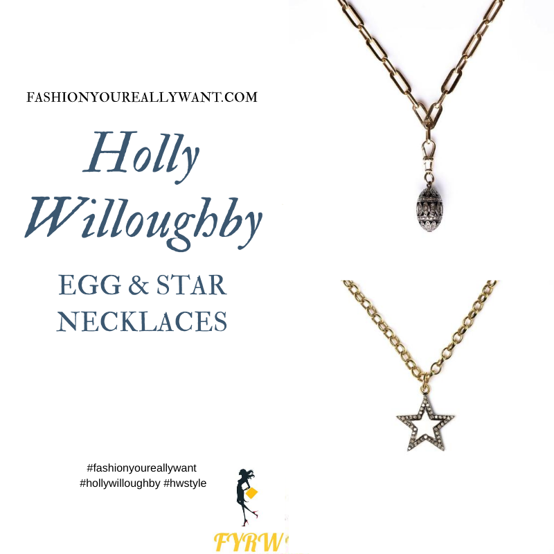 Where to get all Holly Willoughby jewellery blog August 2020 star and egg necklace