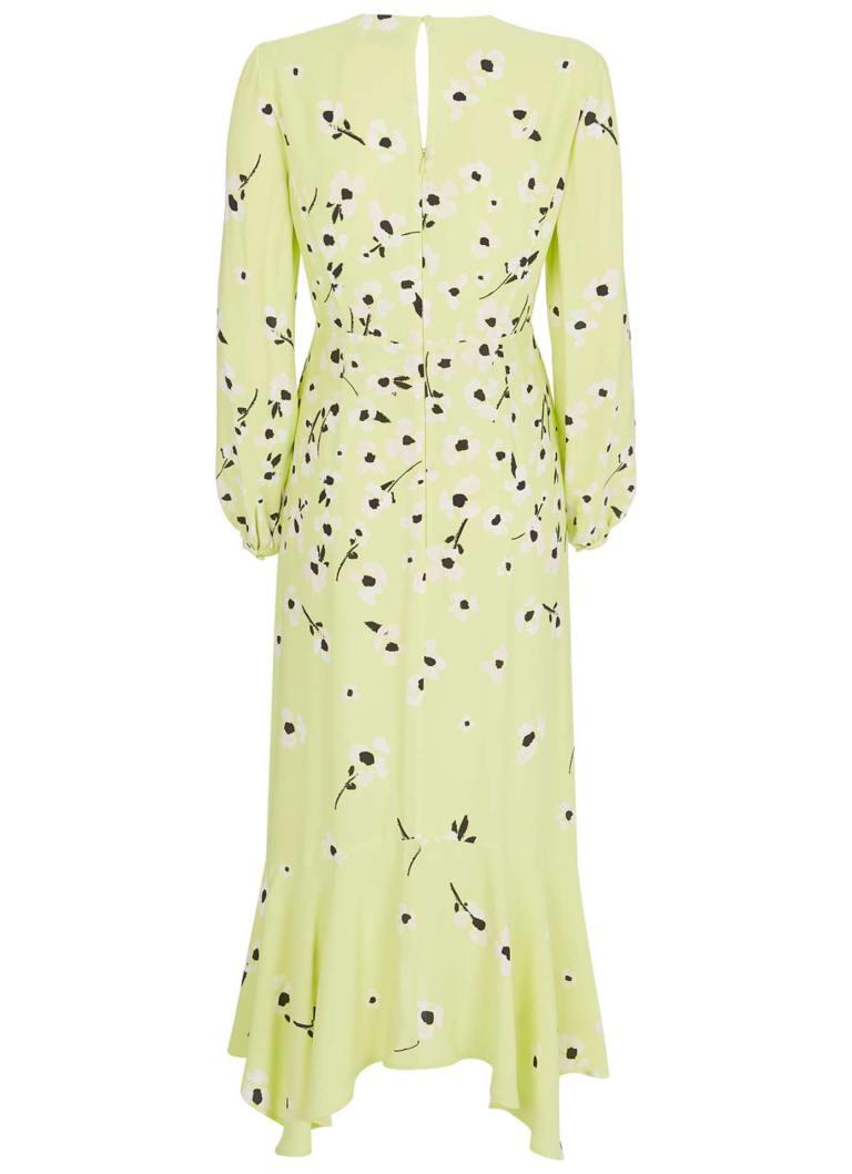 Mint Velvet Juliet Floral Midi Dress back view