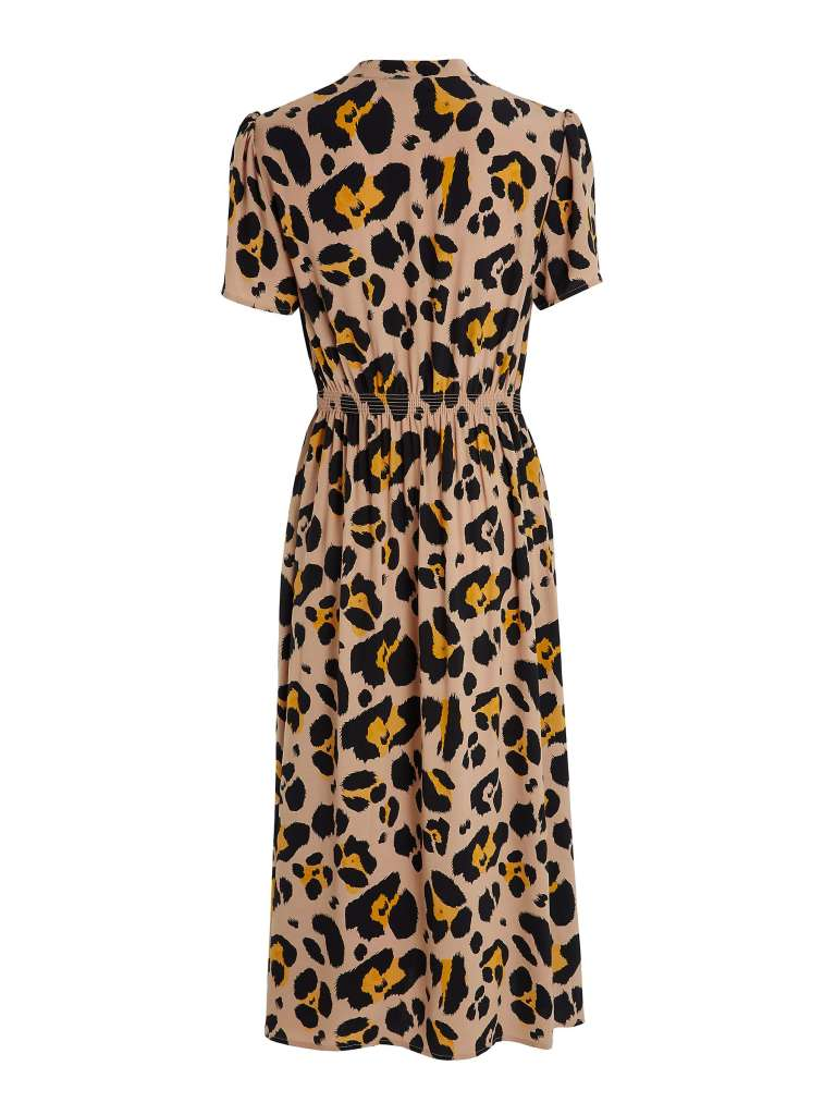 Somerset by Alice Temperly Oversized Leopard Print Shirt Dress back view