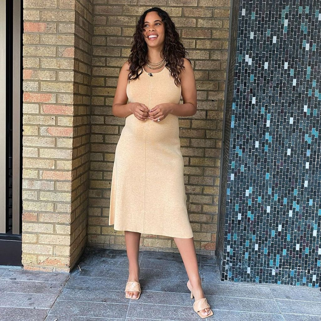 Where to get all Rochelle Humes This Morning dresses yellow sundress 14 August 2020 Photo Rochelle Humes