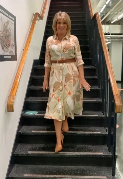 where to get all Ruth Langsford This Morning dresses floral print stone shirt dress 26 August 2020 Photo Ruth Langsford