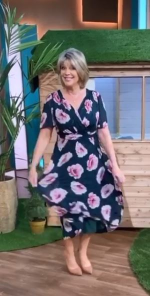 where to get all Ruth Langsford This Morning dresses teal floral print maxi dress 5 August 2020 Photo Ruth Langsford