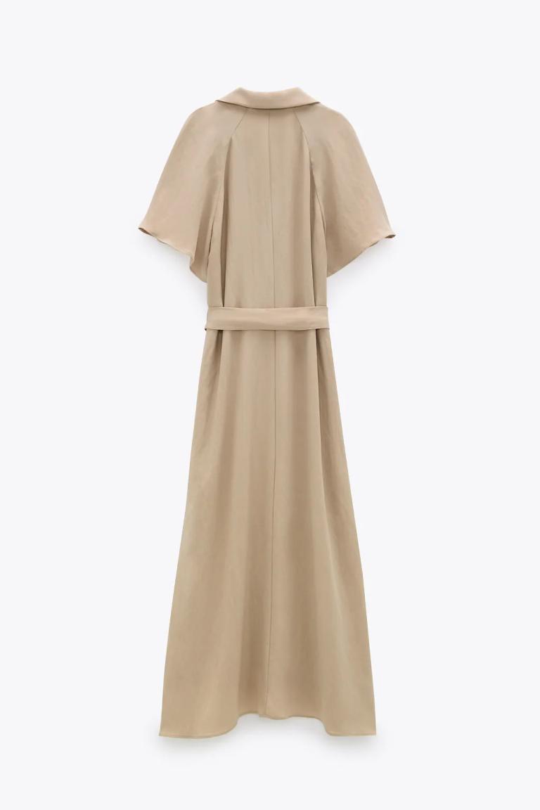 Zara Belted Shirt Dress back view